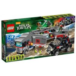 LEGO Ninja Turtles 79116 únik velkého sněžného náklaďáku